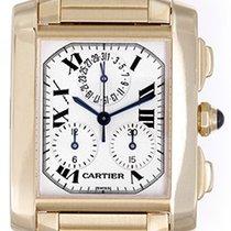 Cartier Tank Francaise Chronograph Men's Gold Watch W5000R2