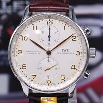 IWC Portuguese Chronograph Iw3714 White Automatic (near Mint)