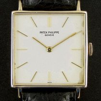 Patek Philippe Square Yellow Gold Vintage 3430 Manual Silver...