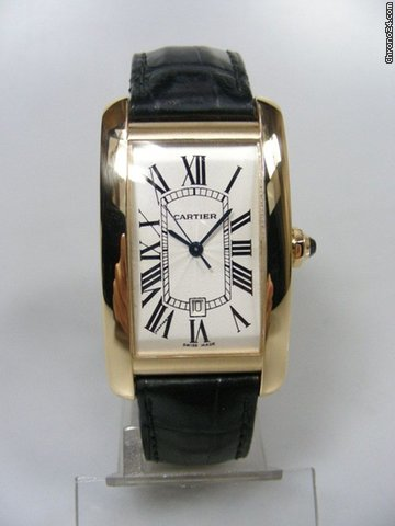 Cartier Tank Americaine grande taille/big size yellow gold