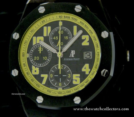 "Audemars Piguet Rare Offshore Chronograph Bumble Bee ""Ref26176FO.OO.D101CR.02 "" Full Set"