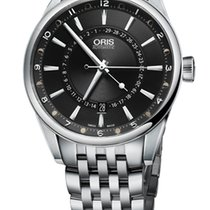 Oris Artix Pointer Moon, Date, Black Dial, Steel Bracelet
