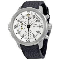 IWC Aquatimer Chronograph Silver Dial Black Rubber Men's...