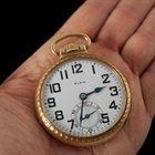 Elgin 1922 21J B.W. Raymond Railroad Mens Pocket Watch - 10K Gold