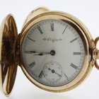 Elgin Ladies Pocket Watch solid 14 Karat Yellow Gold with...