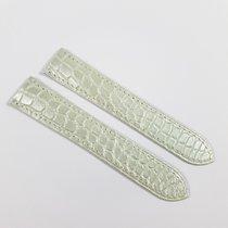 Cartier 18mm silver / white shiny Alligator Strap KD25XV08 NEW
