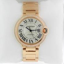 Cartier Ballon Bleu 36mm 18K Rose Gold Watch Diamond Bezel