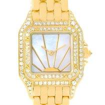 Cartier Panthere Ladies 18k Yellow Gold Diamond Sunrise Dial...