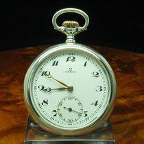 Omega 925 Silber Open Face Taschenuhr Von Ca. 1932 / Kaliber...