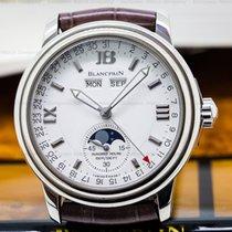Blancpain 3563-1542-53 Leman Complete Calendar White Gold /...