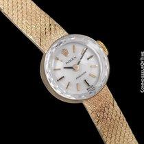 Rolex 1980's Vintage Ladies Bracelet Dress Watch - 14K Gold