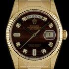 Rolex 18k Y/G O/P Unworn Taurus Eye Dia Dial Day-Date B&P...