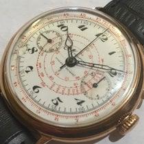 Minerva Cronografo monopulsante anni 30 jumbo 42mm