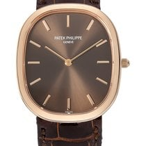 Patek Philippe Golden Ellipse Rose Gold on Brown Strap