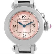 Cartier Miss Pasha Small Steel Pink Dial Quartz Watch W3140008