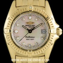 Breitling 18k Y/G White MOP Diamond Dial Callistino Ladies K52045