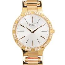 Piaget Dancer 18 K Rose Gold With Diamonds Silver Quartz G0A38053