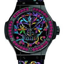 Hublot : Big Bang 41mm Broderie Sugar Skull Ceramic Watch