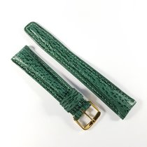 Omega 18mm green shark leather strap with pin clasp NEW &...
