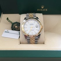 Rolex Nib 126333 41mm Ss/yg Datejust White Index Dial W/papers