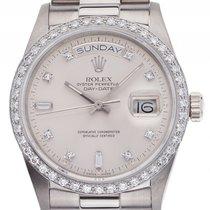 Rolex Day Date 18kt Weißgold Diamond orig. Rolex Automatik...