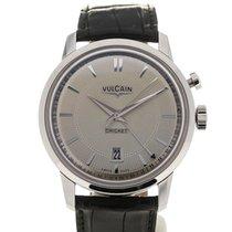 Vulcain 50s Presidents' Watch 42 Sandstone Guilloche Black...