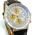Breitling Old Navitimer Stahl Gold Neue Revision + Box +...