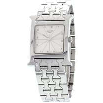 "Hermès ""H"" Hour Stainless Steel Watch"