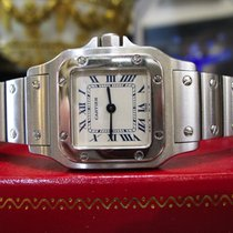 Cartier Santos Steel Quartz Roman Numeral Watch