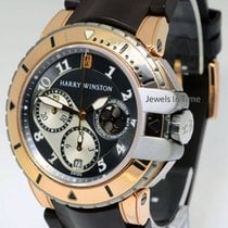 Harry Winston Ocean Diver Chronograph 18k Gold & Zalium...