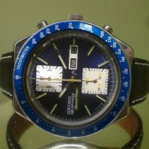Seiko vintage chronograph KAKUME with BLUE DIAL and BEZEL ref...