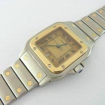 Cartier Santos Galbée Ref 187901 Stahl/gold Quarz 29 Mm Mit...