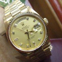 Rolex Day Date - Diamonds & Gold 18K - SUPER FULL SET -...