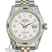 Rolex Stainless Steel 18k Gold 26mm Datejust White Certifed...