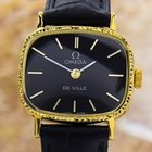 Omega Black Deville Manual Gold Plated Watch 1980's Ja41