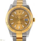Rolex Oyster Perpetual Datejust II Champagne Dial 18k Yellow...