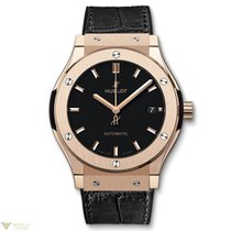 Hublot Classic Fusion Automatic 18K King Gold Leather Men'...