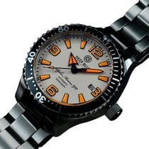 Deep Blue Alpha Marine 500 45mm Auto Diver Watch 500m Wr White...