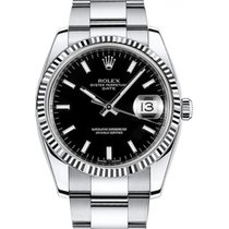 Rolex Oyster Perpetual Date 34 115234-BLKSFO Black Index...