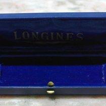 Longines vintage plastic blu watch box very nice
