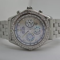 Breitling Windrider Shadow Flyback MOP Diamond Bezel + Dial LC100