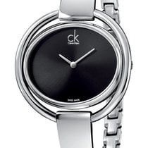 ck Calvin Klein Damenuhr IMPETUOUS black K4F2N111