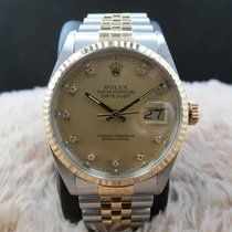 Rolex DATEJUST 16013 2-Tone Original Gold Diamond Dial