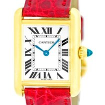 "Cartier ""Tank Louis"" Strapwatch."