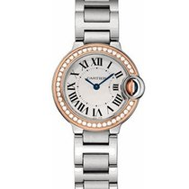 Cartier Ballon Bleu Ladies 33mm Automatic in Steel Rose Gold...
