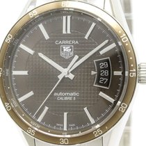 TAG Heuer Polished Tag Heuer Carrera Calibre Steel Automatic...