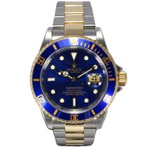 Rolex Oyster Perpetual Submariner Date Blue Dial 18ct Yellow...