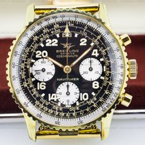 Breitling 809 Vintage Navitimer Cosmonaute Gold Plated Circa...