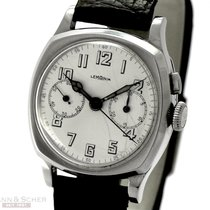 Lemania Chronograph Cal 7811 Stainless Steel Single Button...