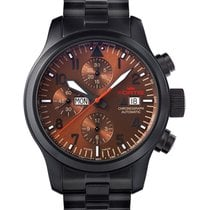Fortis Aviatis Aeromaster Dusk Chronograph Watch Black Pvd...